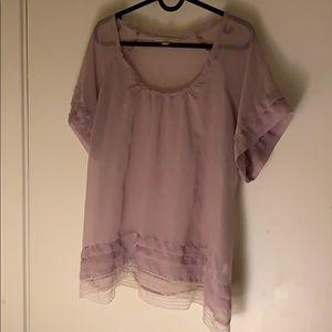 Sheer Lavender Top
